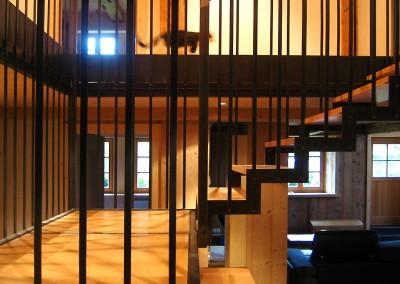 escalier et garde-corps filaire